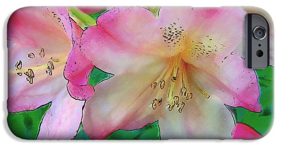 Ebsq IPhone 6 Case featuring the photograph Pink Azalea by Dee Flouton