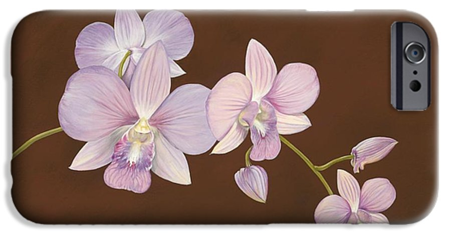 Orchid IPhone 6 Case featuring the painting Pink Orchids by Shawn Stallings