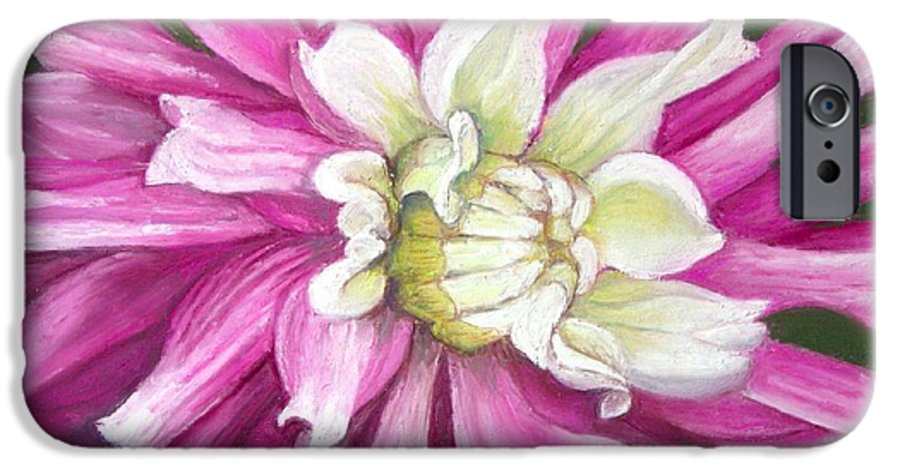 Floral IPhone 6 Case featuring the painting Pink Petal Blast by Minaz Jantz