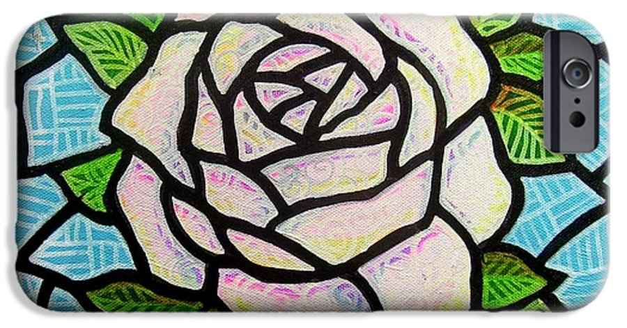 Rose IPhone 6 Case featuring the painting Pinkish Rose by Jim Harris