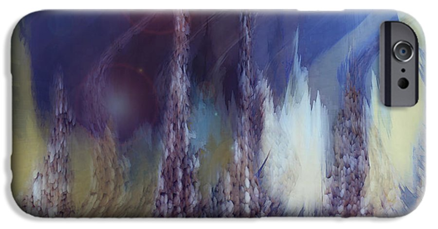 Abstract IPhone 6 Case featuring the digital art Pixel Dream by Linda Sannuti