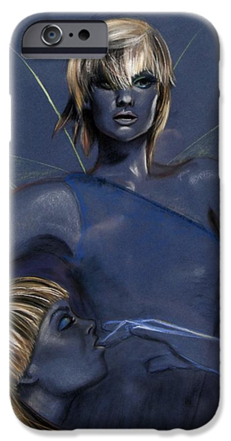 Pixie IPhone 6 Case featuring the pastel Pixie by Maryn Crawford
