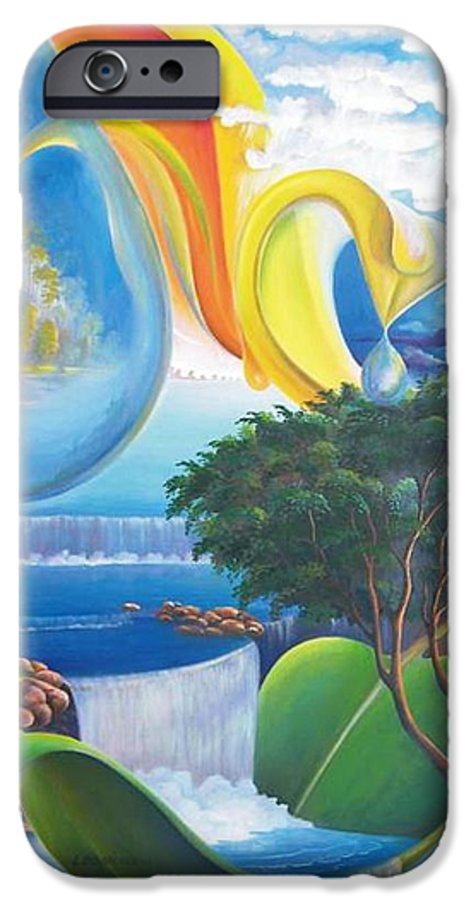 Surrealism - Landscape IPhone 6 Case featuring the painting Planet Water - Leomariano by Leomariano artist BRASIL