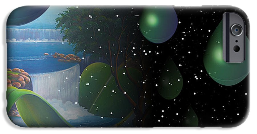 Suarrealism IPhone 6 Case featuring the painting Planet Water by Leomariano artist BRASIL