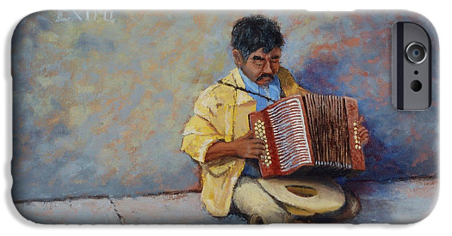 Mexico IPhone 6 Case featuring the painting Playing For Pesos by Jerry McElroy