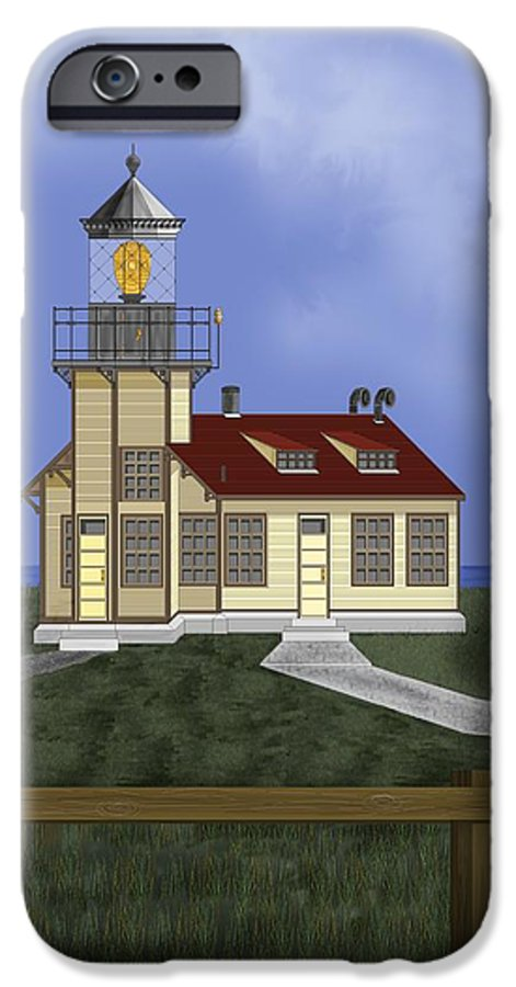 Lighthouse IPhone 6 Case featuring the painting Point Cabrillo California by Anne Norskog
