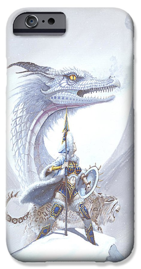 Dragon IPhone 6 Case featuring the painting Polar Princess by Stanley Morrison