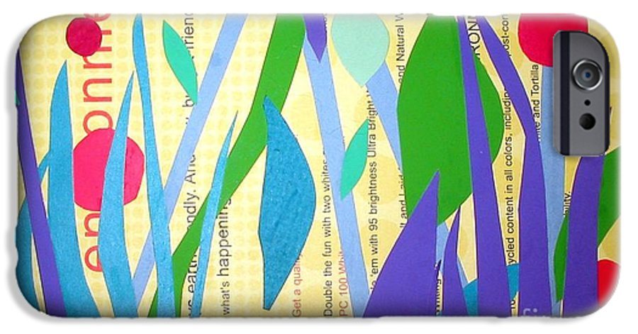 Landscape IPhone 6 Case featuring the mixed media Pond Life by Debra Bretton Robinson