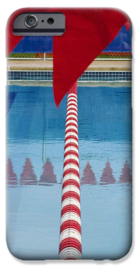 Flag IPhone 6 Case featuring the photograph Pool by Skip Hunt