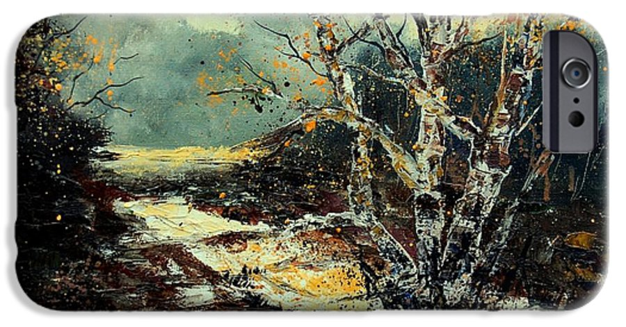 Tree IPhone 6 Case featuring the painting Poplars 45 by Pol Ledent