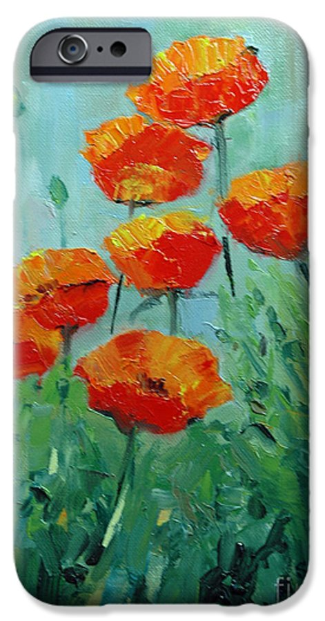 Floral IPhone 6 Case featuring the painting Poppies For Sally by Glenn Secrest