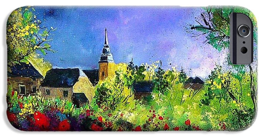 Flowers IPhone 6 Case featuring the painting Poppies In Villers by Pol Ledent