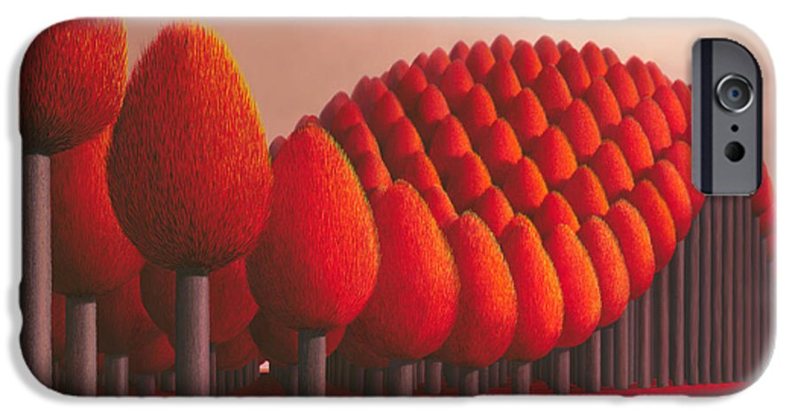 Tree IPhone 6 Case featuring the painting Populus Flucta by Patricia Van Lubeck