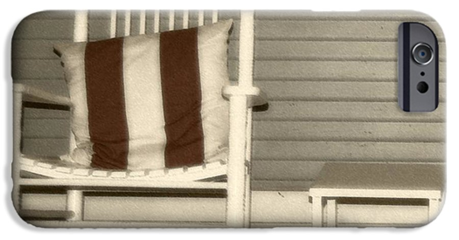 Rocking Chair IPhone 6 Case featuring the photograph Porch Rocker by Debbi Granruth