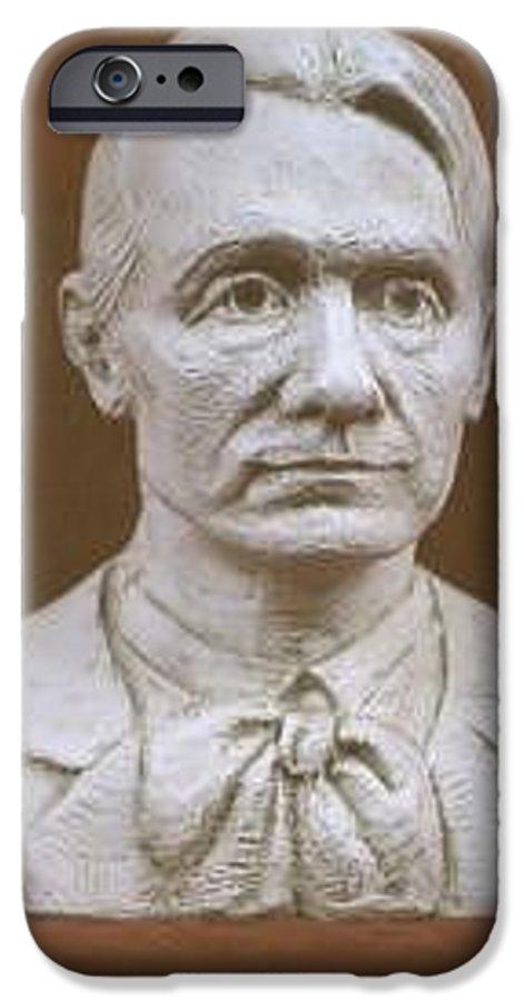 Rudolf Steiner IPhone 6 Case featuring the sculpture Portrait Bust Of Rudolf Steiner by David Dozier