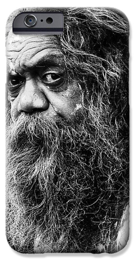 Aborigine Aboriginal Australian IPhone 6 Case featuring the photograph Portrait Of An Australian Aborigine by Sheila Smart Fine Art Photography