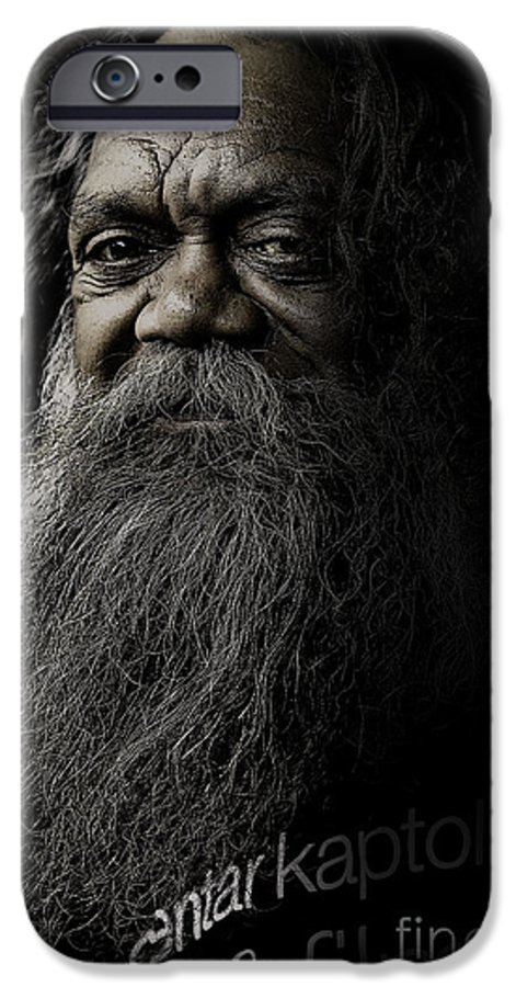Aboriginal IPhone 6 Case featuring the photograph Portrait Of Cedric by Avalon Fine Art Photography