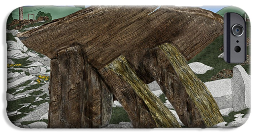 Landscape IPhone 6 Case featuring the painting Poulnabrone Dolmen County Clare Ireland by Anne Norskog