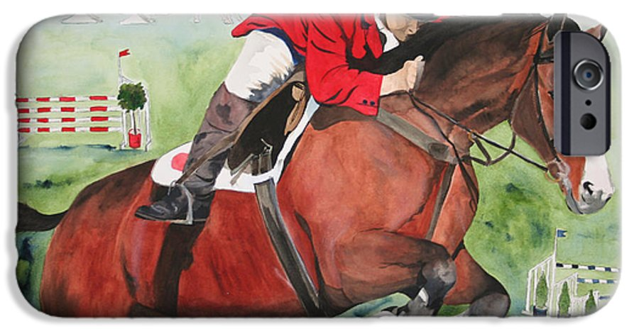 Horse IPhone 6 Case featuring the painting Practice Makes Perfect by Jean Blackmer