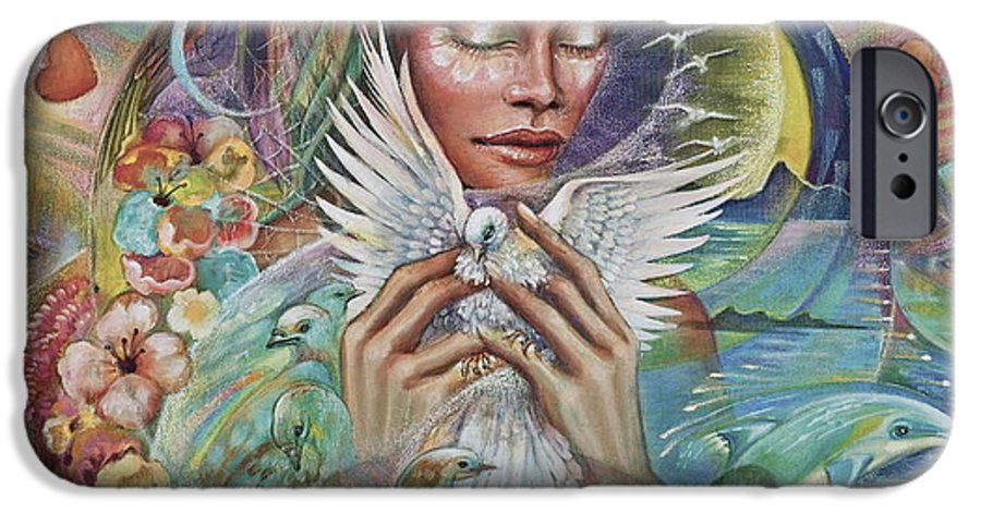 Dove IPhone 6 Case featuring the painting Prayer For Peace by Blaze Warrender