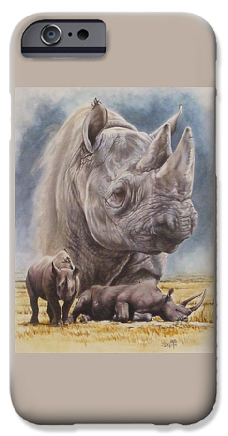 Wildlife IPhone 6 Case featuring the mixed media Precarious by Barbara Keith
