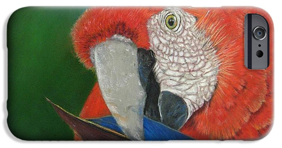 Bird IPhone 6 Case featuring the painting Presumida by Ceci Watson