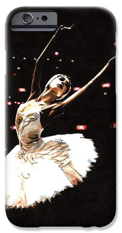 Prima Ballerina IPhone 6 Case featuring the painting Prima Ballerina by Richard Young