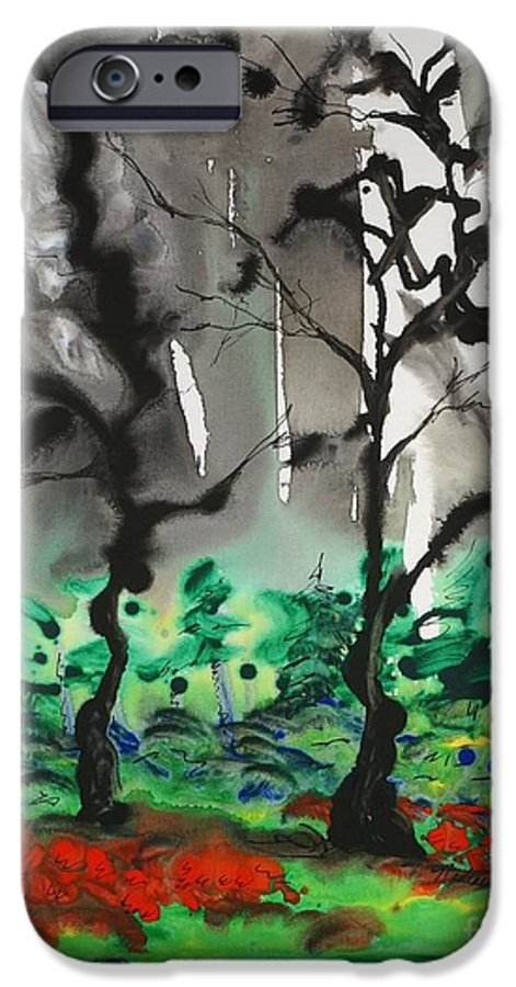Forest IPhone 6 Case featuring the painting Primary Forest by Nadine Rippelmeyer