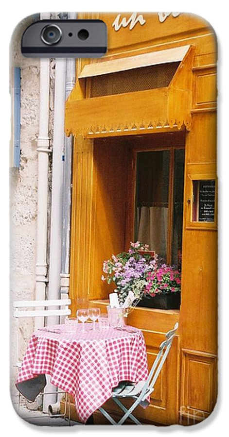 Cafe IPhone 6 Case featuring the photograph Provence Cafe by Nadine Rippelmeyer