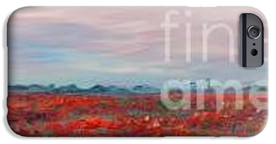 Poppies IPhone 6 Case featuring the painting Provence Poppies by Nadine Rippelmeyer