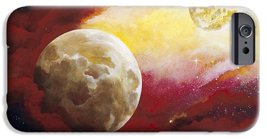 Space IPhone 6 Case featuring the painting Psalm by Laura Swink