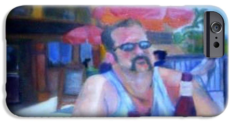 Daytona IPhone 6 Case featuring the painting Pub by Sheila Mashaw