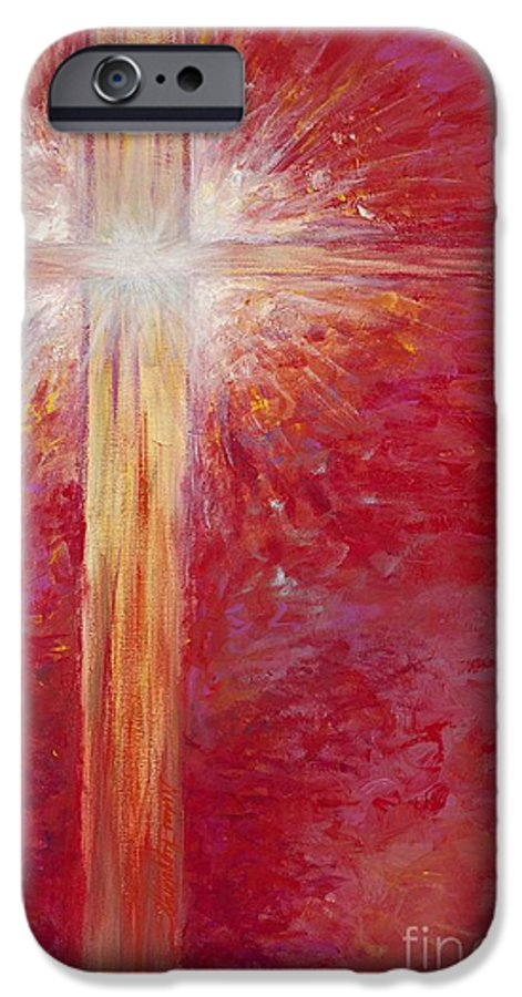 Light IPhone 6 Case featuring the painting Pure Light by Nadine Rippelmeyer