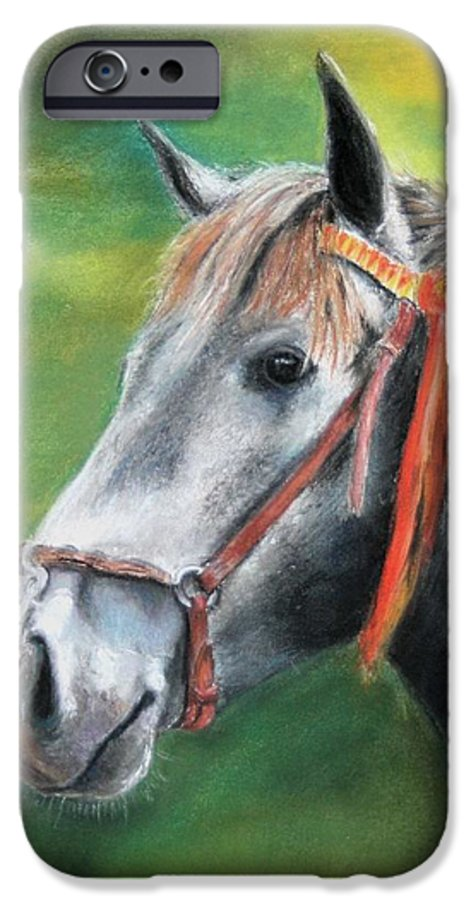 Horse IPhone 6 Case featuring the painting Pure Spanish by Ceci Watson