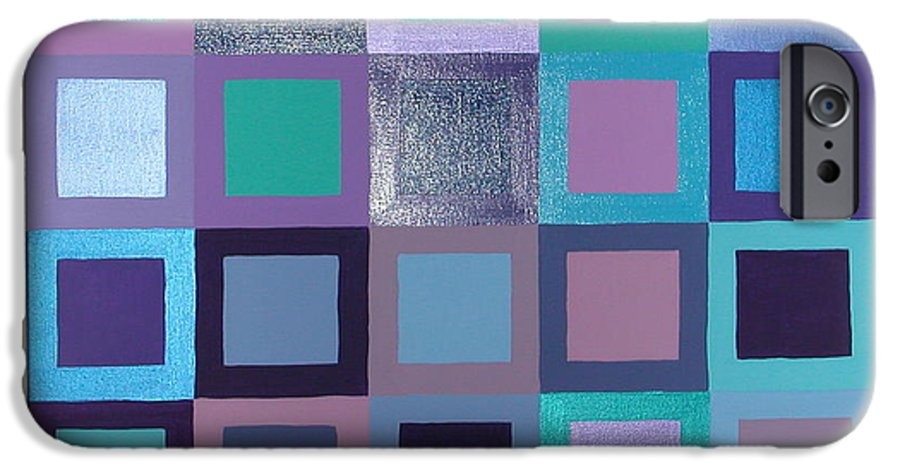 Squares IPhone 6 Case featuring the painting Purple Haze by Gay Dallek