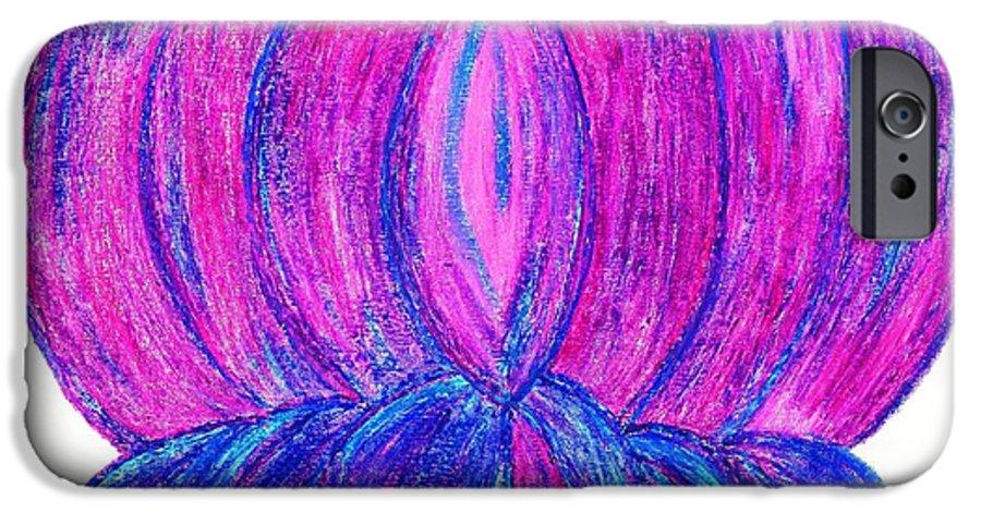 Purple Lotus IPhone 6 Case featuring the pastel Purple Lotus by Chandelle Hazen