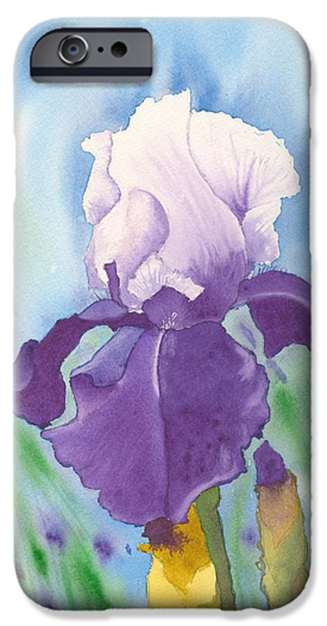 Iris IPhone 6 Case featuring the painting Purple by Louise Magno