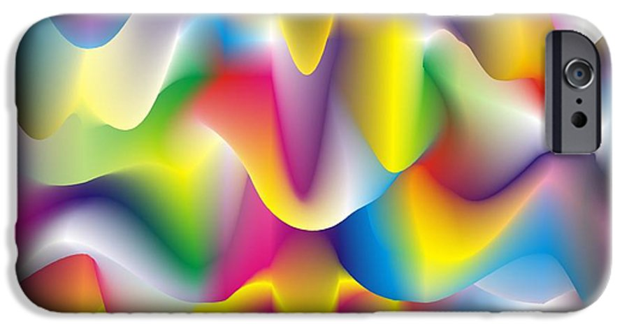 Abstract IPhone 6 Case featuring the digital art Quantum Landscape 1 by Walter Oliver Neal