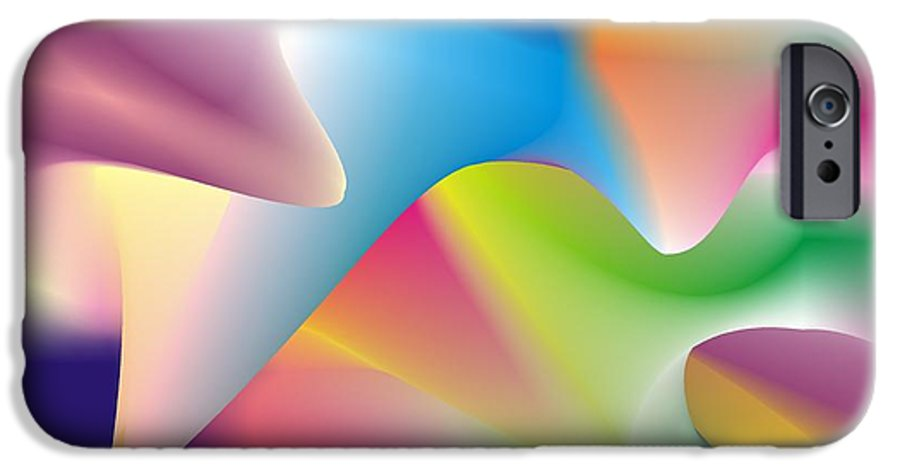Abstract IPhone 6 Case featuring the digital art Quantum Landscape 2 by Walter Oliver Neal