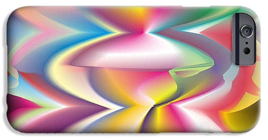 Abstract IPhone 6 Case featuring the digital art Quantum Landscape 3 by Walter Oliver Neal