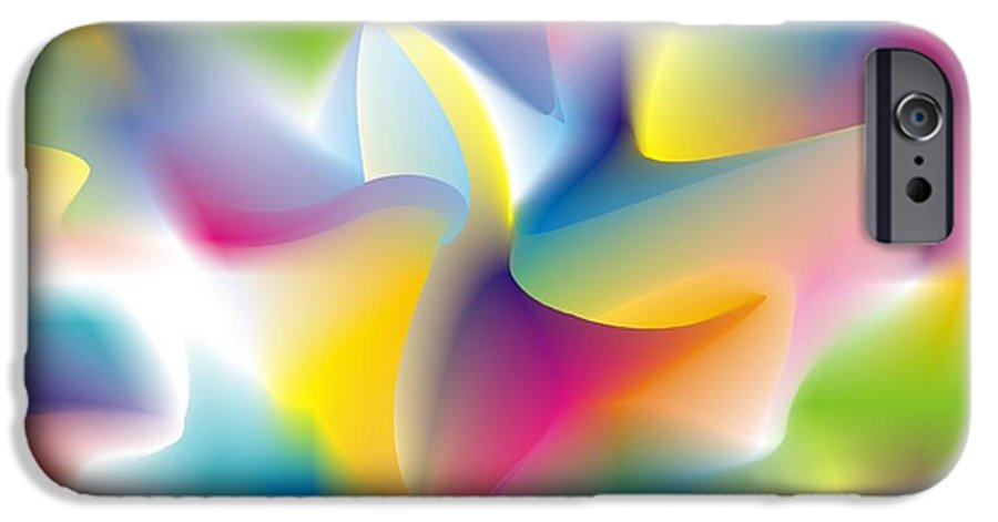 Abstract IPhone 6 Case featuring the digital art Quantum Landscape 4 by Walter Oliver Neal