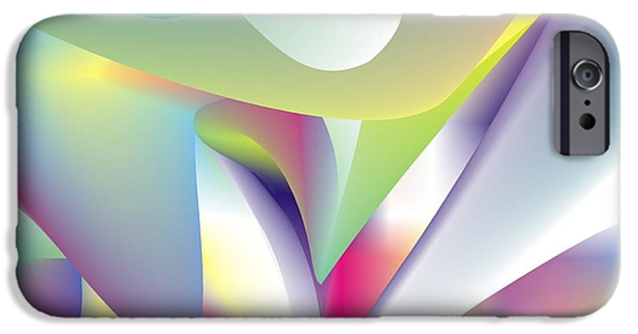 Abstract IPhone 6 Case featuring the digital art Quantum Landscape 5 by Walter Oliver Neal