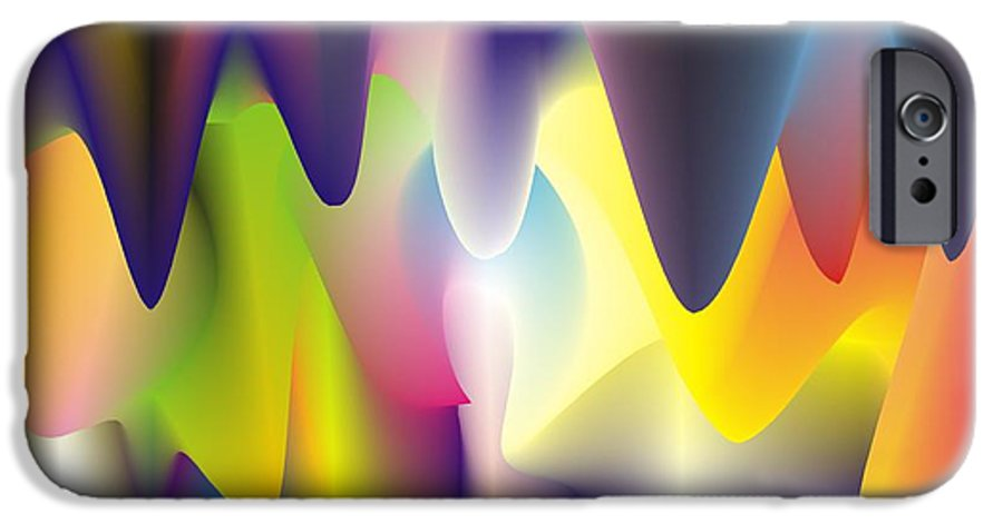 Abstract IPhone 6 Case featuring the digital art Quantum Landscape 6 by Walter Oliver Neal