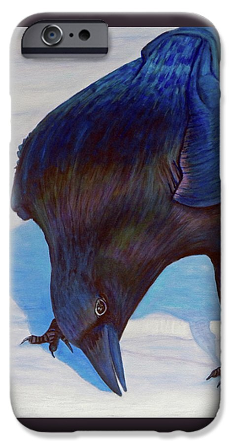 Raven IPhone 6 Case featuring the painting Que Pasa by Brian Commerford