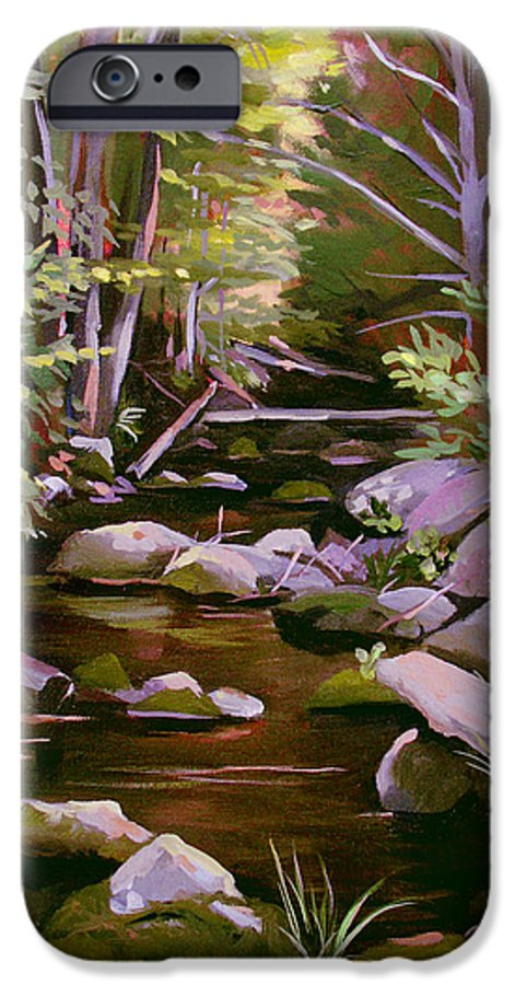 Peoples State Forest IPhone 6 Case featuring the painting Quiet Brook by Nancy Griswold
