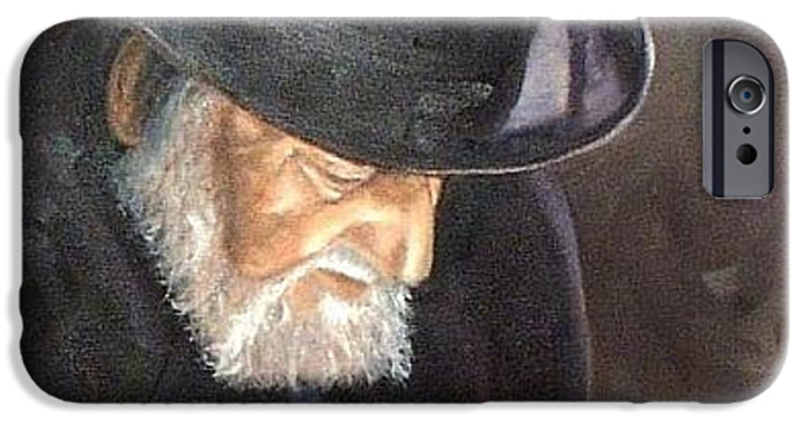 Portrait IPhone 6 Case featuring the painting Rabbi by Toni Berry