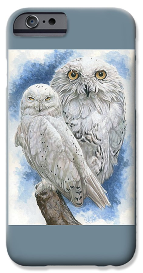 Snowy Owl IPhone 6 Case featuring the mixed media Radiant by Barbara Keith