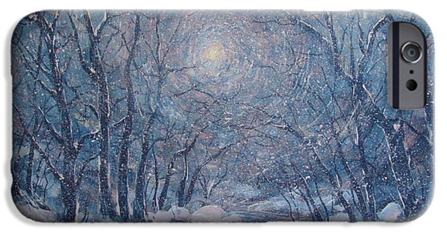Snow Landscape IPhone 6 Case featuring the painting Radiant Snow Scene by Leonard Holland
