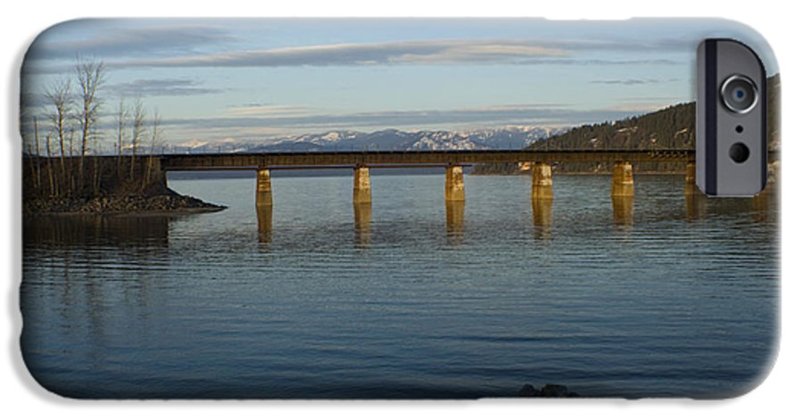 Bridge IPhone 6 Case featuring the photograph Railroad Bridge Over The Pend Oreille by Idaho Scenic Images Linda Lantzy