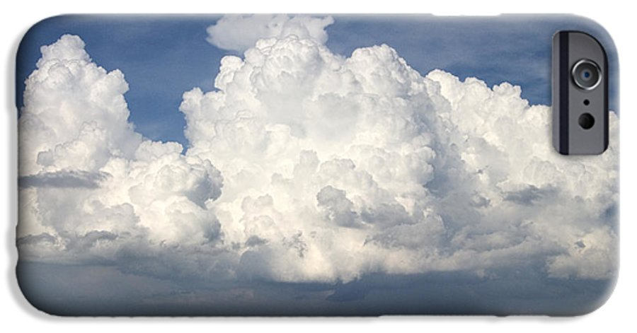 Clouds IPhone 6 Case featuring the photograph Rain Clouds Over Lake Apopka by Carl Purcell